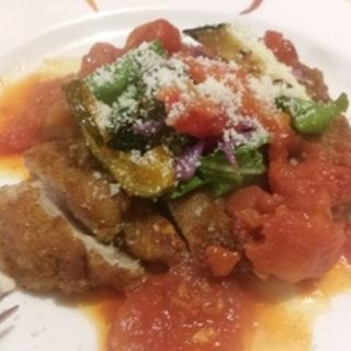 豚肉のミラノ風カツレツ 香味野菜とトマトのソース (Dining Riz Ohno (ダイニング リ オーノ))