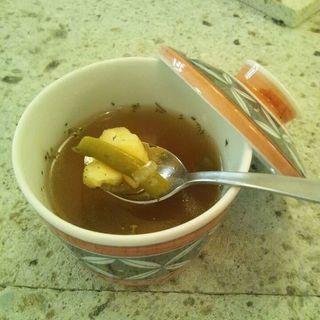 インゲンとたまねぎ&ジャガイモスープ(カフェまる (Caf?))