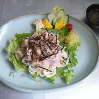 豚しゃぶうどん(カフェまる (Caf?))