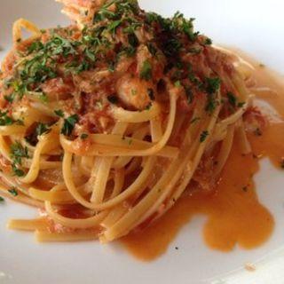 カニのトマトパスタ(Taormina Sicilian Cuisine)