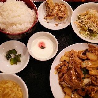 豚肉のピリ辛炒めセット(東海苑)
