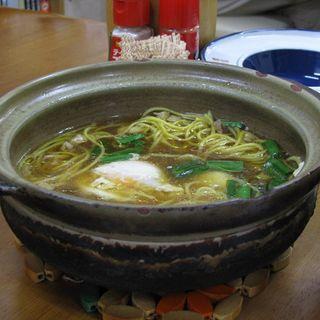 なべ焼きラーメン(並)(橋本食堂 (はしもとしょくどう))