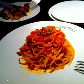 トマトソースのスパゲッティ(シャッターズ Luz自由が丘)