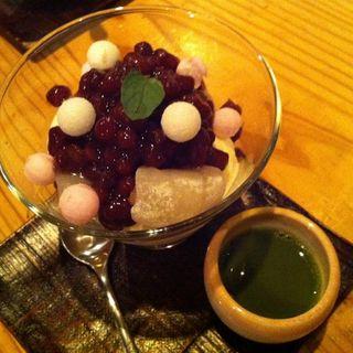 しまなみ名物 しお餅とお抹茶セット(88屋 六本木店)