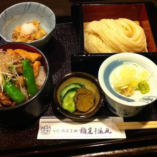 比内地鶏の照焼丼とうどんのセット(七代佐藤養助)