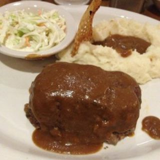 Meatloaf, mashed potatoes, and cole slaw(JUNIOR'S RESTAURANT)