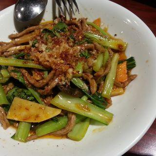 牛肉の炒め煮 ニンニク山椒風味(シーアン 銀座店)