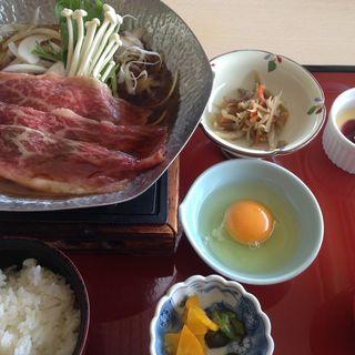 すき焼き定食ランチ(かんぽの宿淡路島レストラン)