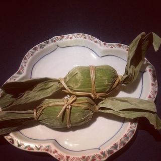 Wrapped mochi with redbean(Shinbashi Japanese restaurant)