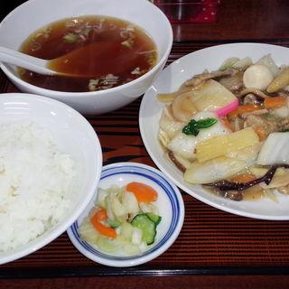 うま煮+ライス定食(寿限無)