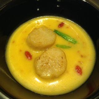 活ホテタ貝柱の海老味噌ソース(中国料理 桃李 (トウリ))