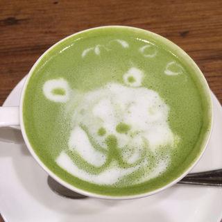 抹茶ラテ(パンケーキカフェ mog 難波店)