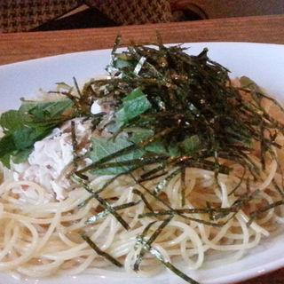 梅肉とめんたいのスープパスタ(バグダッドカフェ)