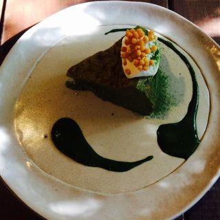 抹茶ミルクケーキ(カフェ 火裏蓮花 (カリレンゲ))