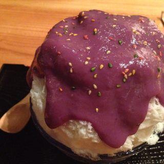 かき氷 濃厚紫いも牛乳(和kitchen かんな (和キッチン かんな))