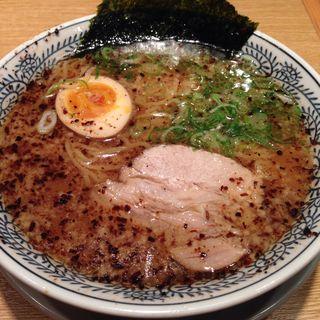 醤油とんこつラーメン 焦がしネギ黒(丸源ラーメン 桂店 )