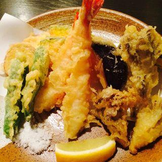 秋野菜と海老の天ぷら盛り合わせ(ここら屋 先斗町店 )