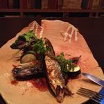 秋刀魚のフィレ醤油ソース