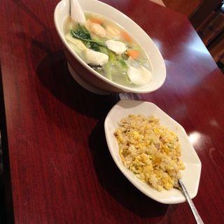 タンメン+チャーハンセット(中華料理 家宴 京急蒲田西口店 (チュウカリョウリカエン))
