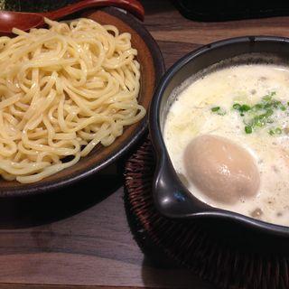 鶏つけ麺塩味玉トッピング(まる家)