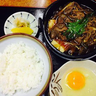 すき焼き定食(山陽亭 (さんようてい))