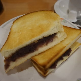 おぐらトーストドリンクセット(喫茶むらやま エスカ店)
