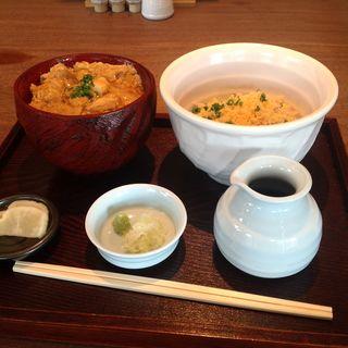 親子丼とたぬき蕎麦セット(こう楽)
