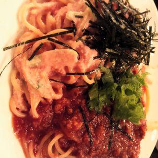 明太子クリーム&ミートソース(パスタランチ)Sサイズ(インバーハウス点心厨房 )