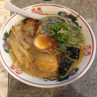 あっさり鶏がら中華そば とろ~り半熟煮卵トッピング(花京 京橋店 )