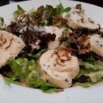 鶏ハムと温玉の親子サラダ
