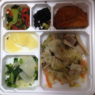 豚肉とキャベツの高菜炒めセット