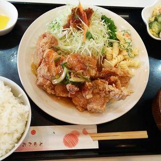 鶏の甘酢あんかけ定食(丈)
