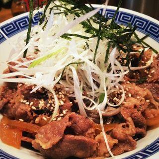 肉盛つけ蕎麦(馳走麺 狸穴)