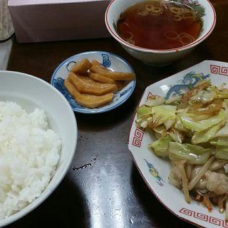 野菜炒め定食(こばや食堂)