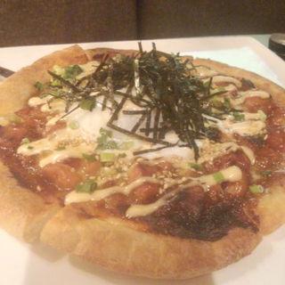 照り焼きチキンのピザ(kawara DINING)