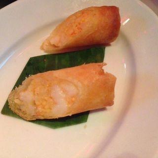海老とズワイ蟹ととびこ入りシーフード春巻(チャイナルーム (Chinaroom))