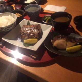 太刀魚の味噌焼き 黒むつの柚子焼き(旬の味 たき下 (たきした))