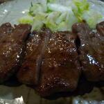 牛たん焼定食大盛り (テールスープ・ライス付)