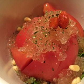 完熟トマトのサラダ冷製仕立て(ろくもんや 本店 )