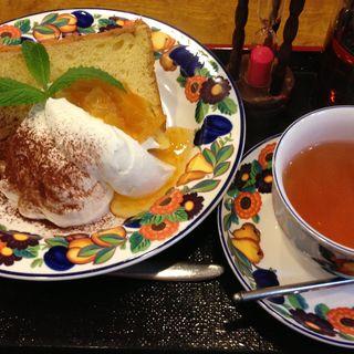 オレンジシフォンケーキ(茶房うちだ )