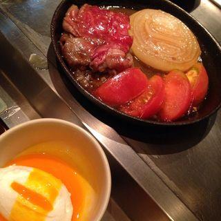 バンビーナトマトすき焼き(鉄板バンビーナbyうしごろ 麻布十番本店 (テッパンバンビーナバイウシゴロ))