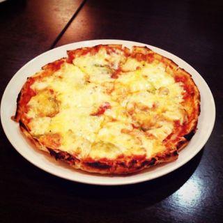ピザ(チキン、ピーマン、玉ねぎ)(オリガノ )