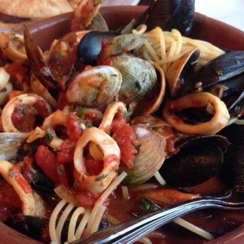Mixed seafood pasta with potato sauce(Trattoria La Sorrentina)の ...