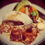彩野菜と豚の生姜焼きプレート(スワン食堂 μプラット金山店 )