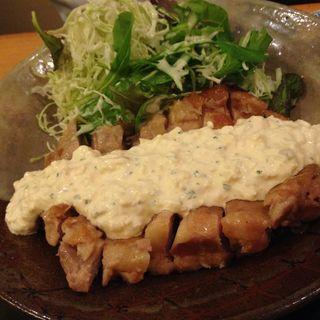 照り焼き鶏肉の豆腐タルタル(淡々菜 (たんたんさい))