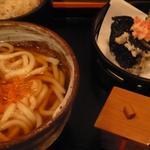 うどんと天ぷらのセット