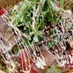 梅マヨドレッシングのサラダ
