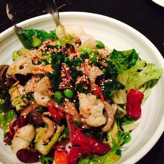 畑の恵み!10種の野菜のサラダ 和風バルサミコドレッシング(RIGOLETTO SHORT HILLS (リゴレット ショート ヒルズ))