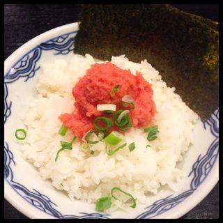 明太子ライス(博多麺房 赤のれん (はかためんぼう あかのれん))