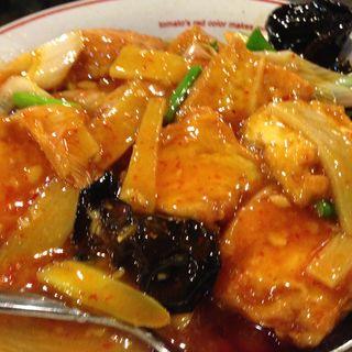 揚げ豆腐の辛味噌炒め(知音食堂 (チインショクドウ))
